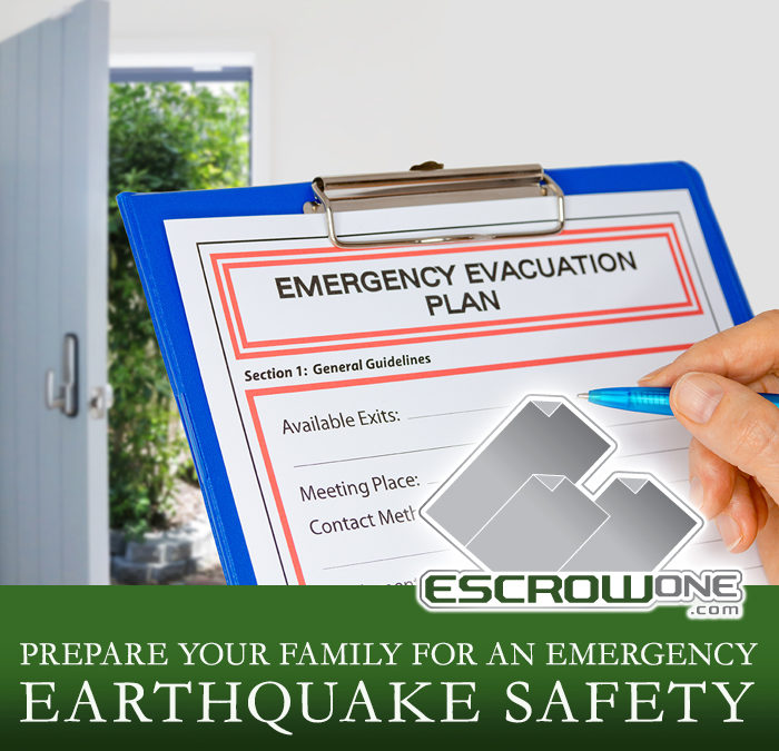 Prepare Your Family for an Emergency – EARTHQUAKE SAFETY