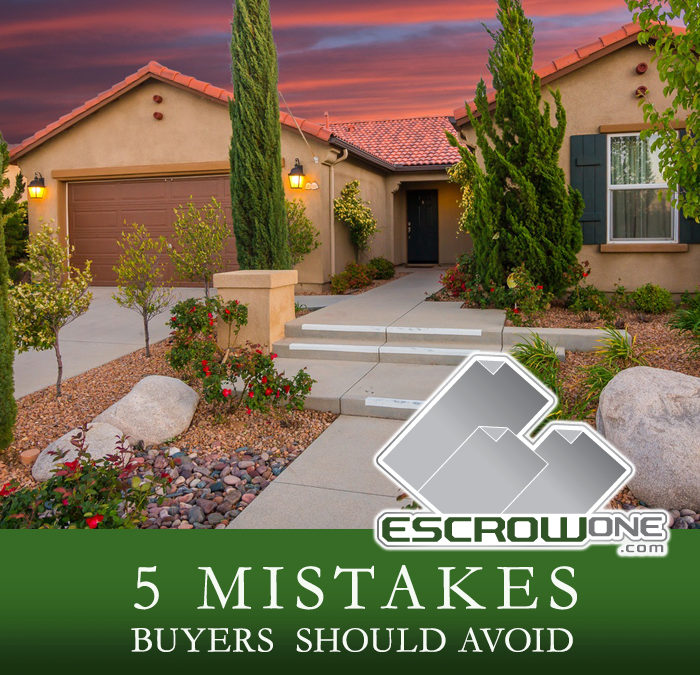 5 Mistakes Buyers Should Avoid