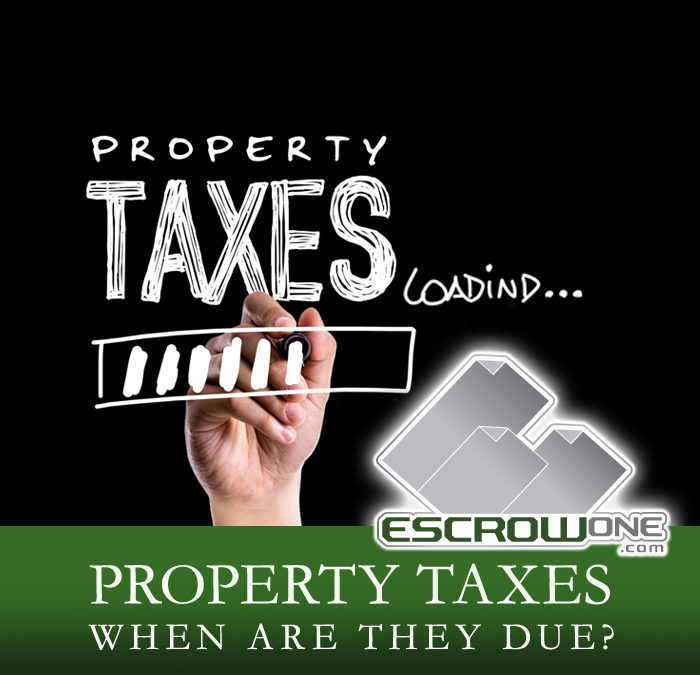 Are My Property Taxes Due?