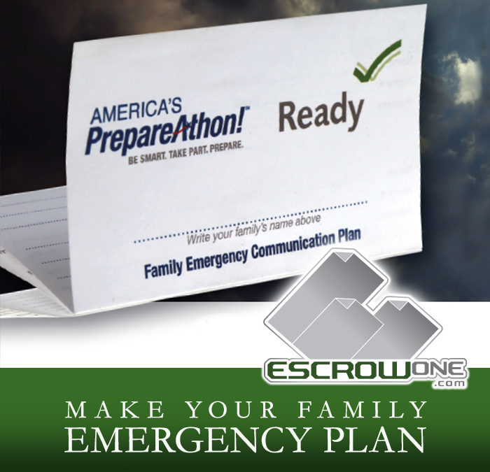 Prepare Your Family for an Emergency – MAKE A PLAN